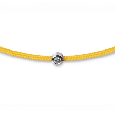 Yellow bracelet with diamond (white gold)