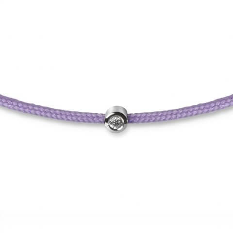 White gold diamond bracelet (purple colour)