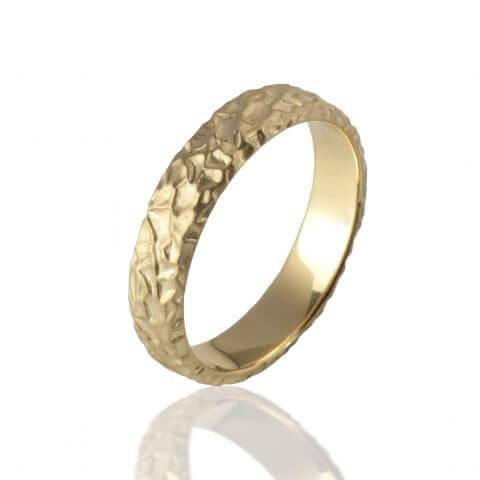 Geltono, matinio aukso žiedas