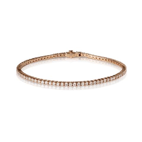 Rožinio aukso apyrankė su deimantais