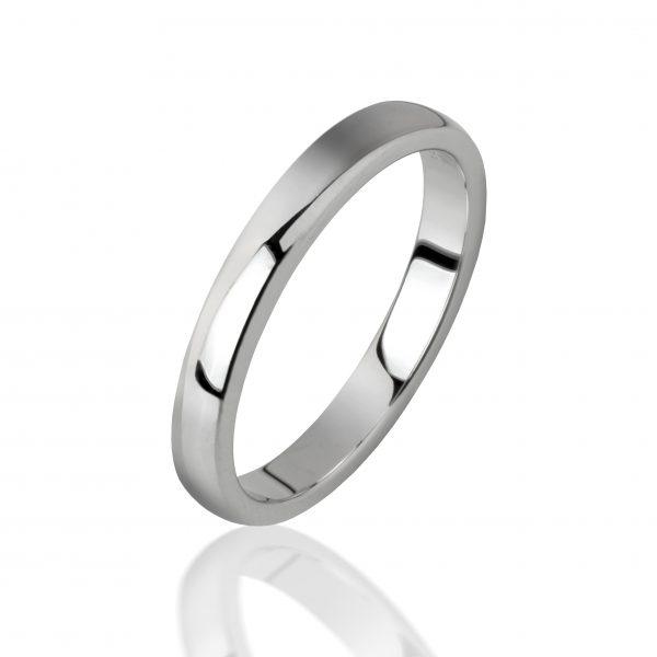 Balto aukso žiedas (3.5 mm pločio)