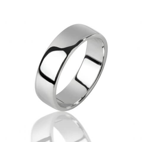Balto aukso žiedas (6 mm pločio)
