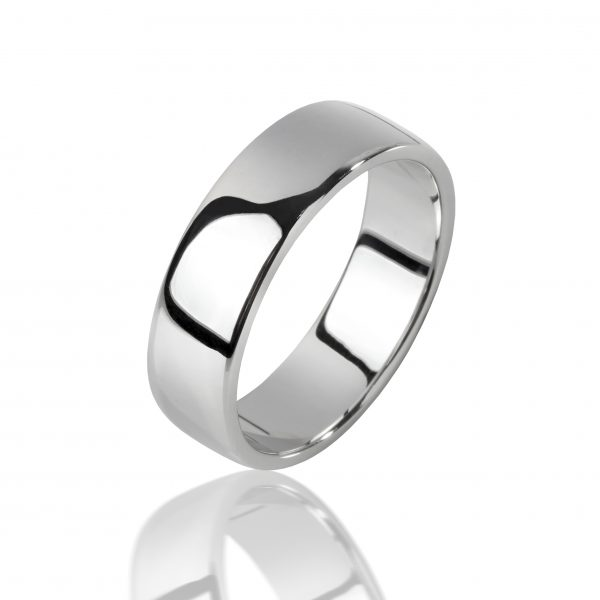Balto aukso žiedas (5.5 mm pločio)