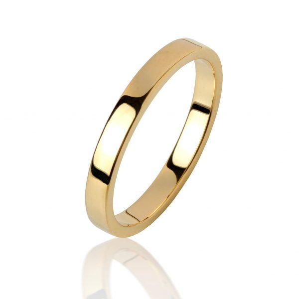Geltono aukso žiedas (3 mm pločio)