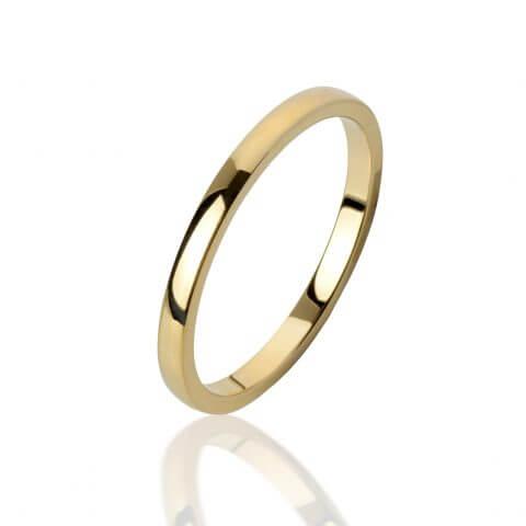 Geltono aukso žiedas (2 mm pločio)