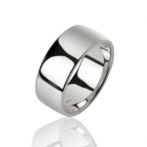 Balto aukso žiedas (9 mm pločio)