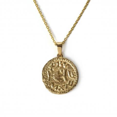 Geltono aukso pakabukas – medalionas