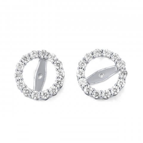 White gold diamond earring jackets