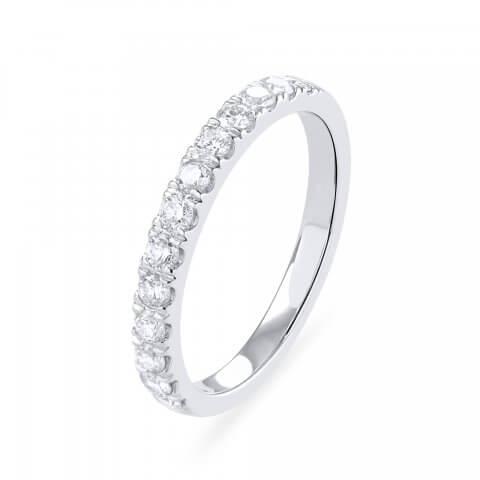 Balto aukso žiedas Deimantų juostelė