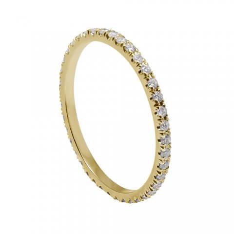 """Geltono aukso minimalistinė """"Deimantų juostelė"""""""