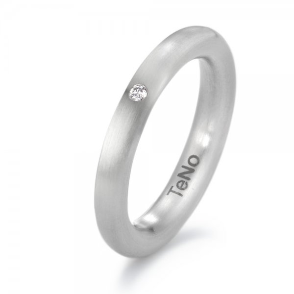 Stainless steel diamond ring (3.5 mm width)