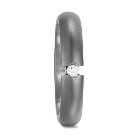 Poliruotas titano žiedas (4 mm pločio)