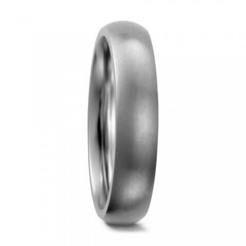 Matinis titano ir aukso žiedas (5 mm pločio)