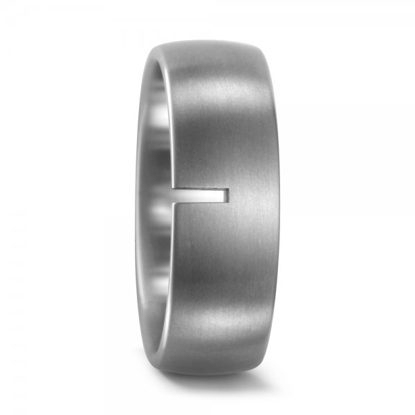 Matinis titano žiedas (8 mm pločio)