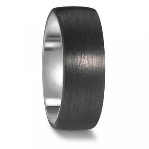 Titano ir karbono žiedas (8 mm pločio)