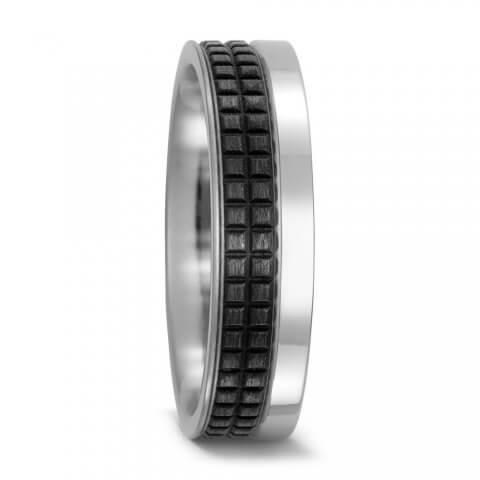 Titano ir karbono žiedas (6 mm pločio)