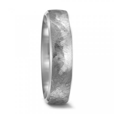 Matinio, faktūruoto titano žiedas (6 mm pločio)
