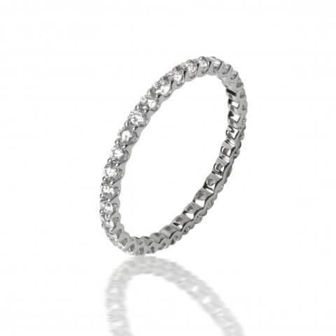 """Balto aukso žiedas """"Deimantų juostelė"""""""