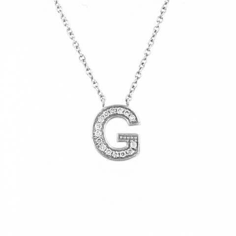 Balto aukso pakabukas su raide G