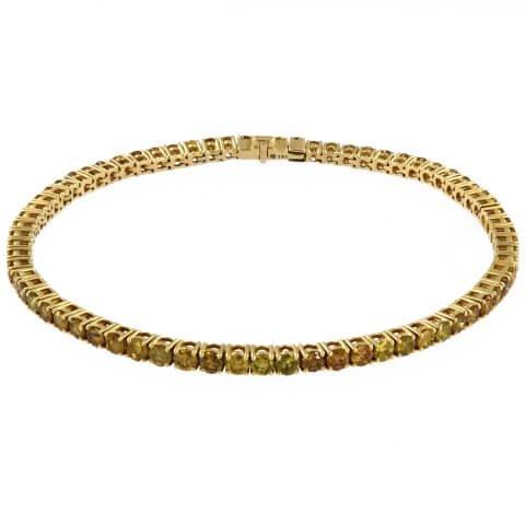 Geltono aukso apyrankė su geltonaisiais deimantais