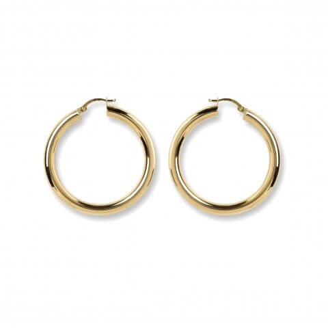 Geltono aukso auskarai rinkelės