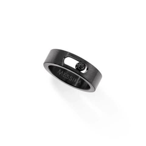 MESSIKA Move titanium black diamond ring