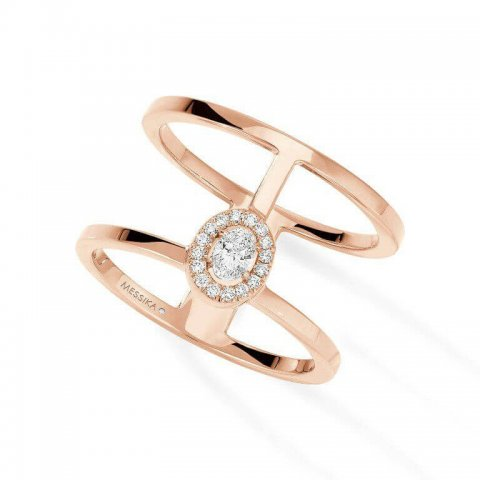 MESSIKA rožinio aukso žiedas su deimantais Glam'Azone