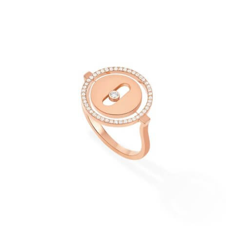 MESSIKA rose gold diamond ring Lucky Move