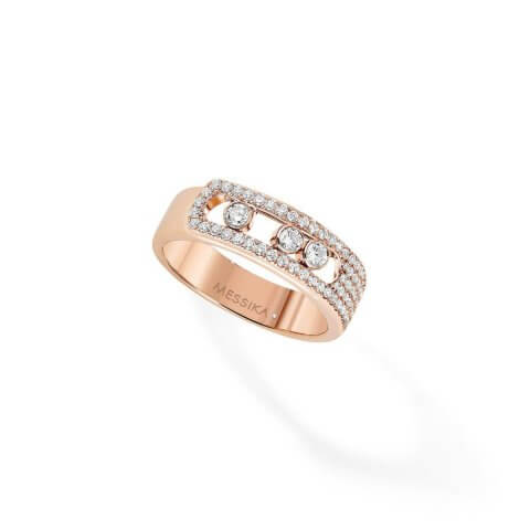MESSIKA rose gold diamond ring Move Noa