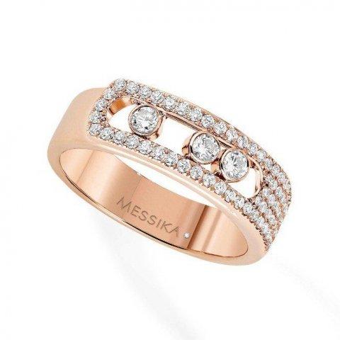 MESSIKA rožinio aukso žiedas su deimantais Move Noa