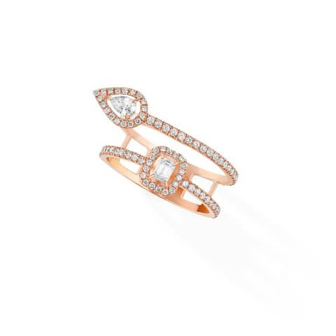 MESSIKA My Twin rose gold diamond ring