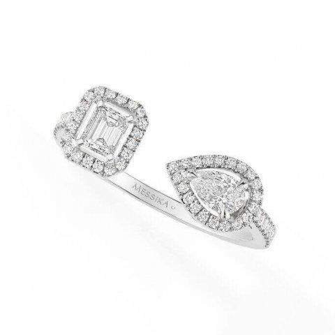 MESSIKA balto aukso žiedas su deimantais My Twin