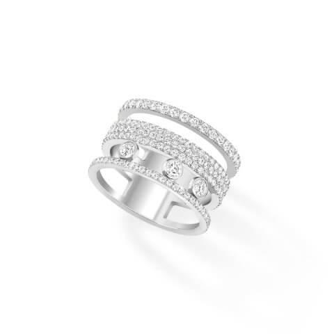 MESSIKA white gold diamond ring Move Romane