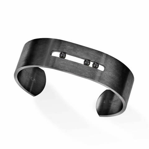 MESSIKA titanium black diamond bracelet