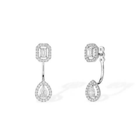 MESSIKA white gold diamond earrings My Twin