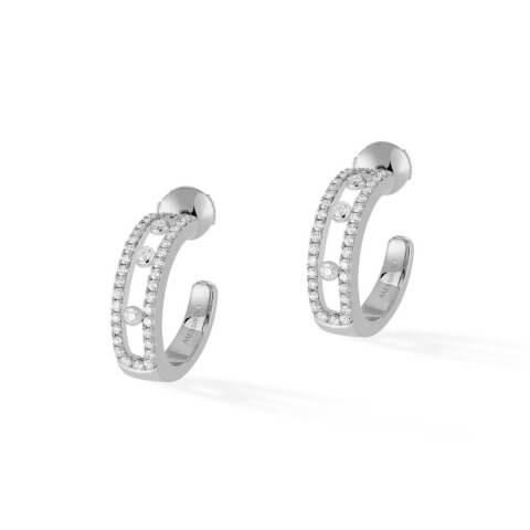 MESSIKA white gold diamond earrings Move