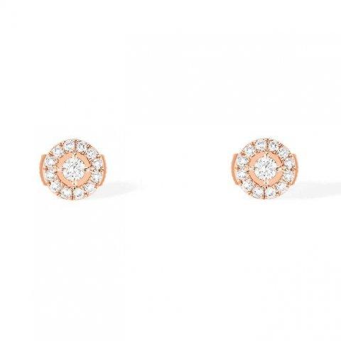 MESSIKA rožinio aukso auskarai su deimantais Joy