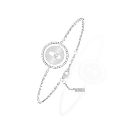 MESSIKA white gold diamond bracelet Lucky Move