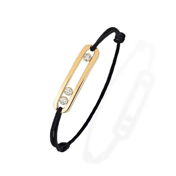 MESSIKA geltono aukso apyrankė su deimantais Move Cord