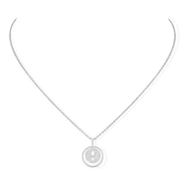 MESSIKA white gold diamond necklace Lucky Move