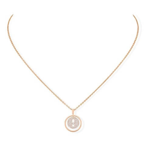 MESSIKA rose gold diamond necklace Lucky Move