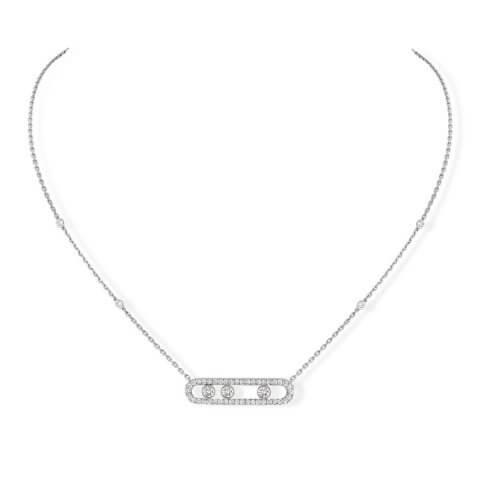 MESSIKA white gold diamond necklace Move