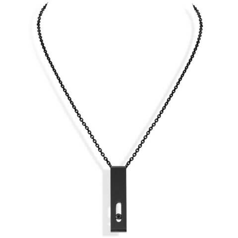 MESSIKA titanium black diamond necklace