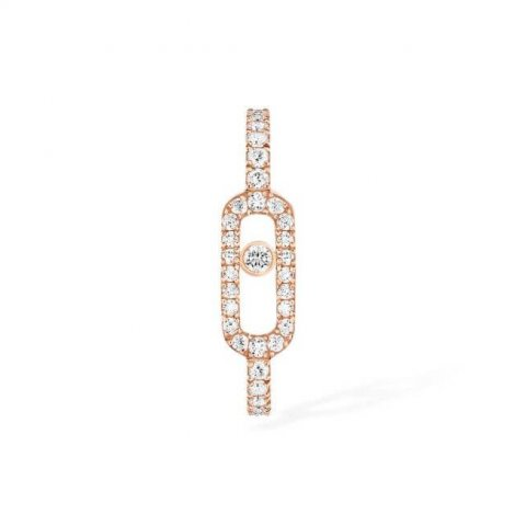 MESSIKA rožinio aukso auskaras su deimantais Move Classique