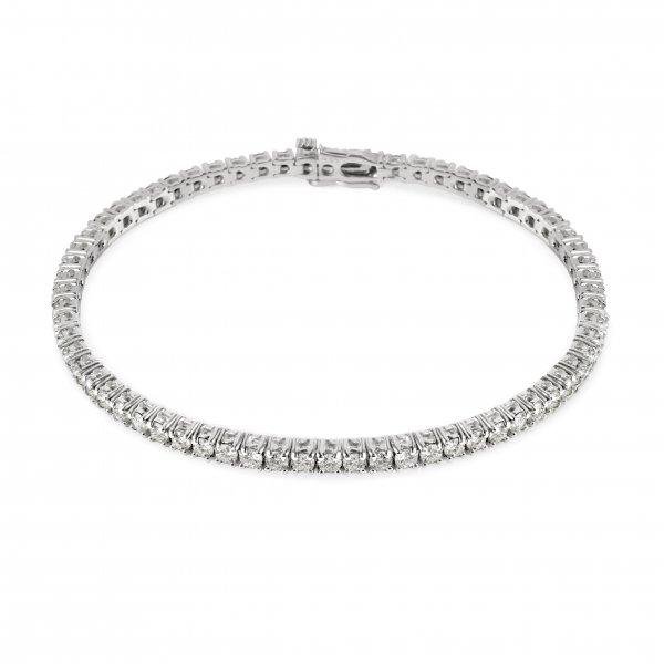 """Balto aukso apyrankė su deimantais """"Tennis Bracelet"""""""