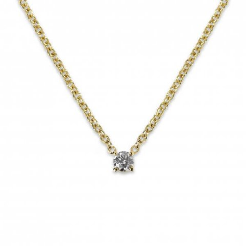 Geltono aukso pakabukas su deimantu