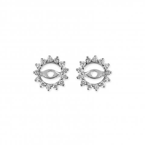 Balto aukso auskarų švarkeliai su deimantais