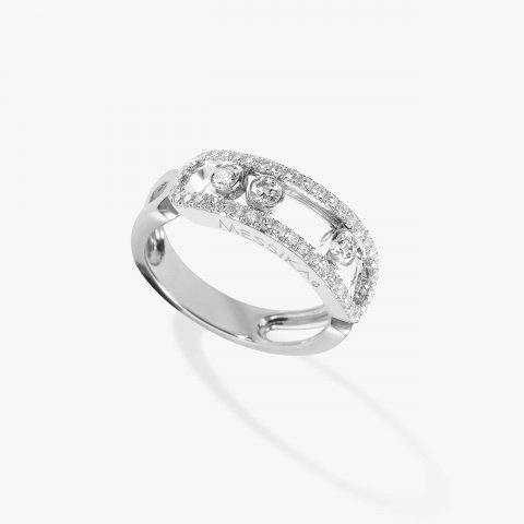 MESSIKA balto aukso žiedas su deimantais Move Classique Pavée