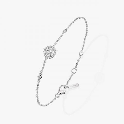 MESSIKA balto aukso apyrankė su deimantais Joy Diamant Rond