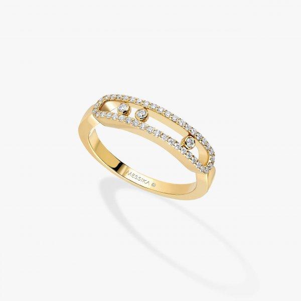 MESSIKA geltono aukso žiedas su deimantais Baby Move Pavée